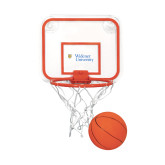 Mini Basketball & Hoop Set-Primary Mark with Shield