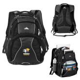 High Sierra Swerve Black Compu Backpack-Widener Athletics