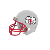 Riddell Replica White Mini Helmet-Ram Head