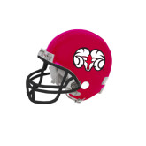 Riddell Replica Red Mini Helmet-Ram Head
