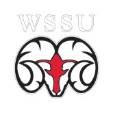 Small Decal-WSSU Ram, 6 inches wide