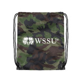 Nylon Camo Drawstring Backpack-Ram WSSU