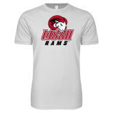 Next Level SoftStyle White T Shirt-WSSU Rams