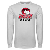 White Long Sleeve T Shirt-WSSU Rams