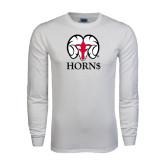 White Long Sleeve T Shirt-Horn$