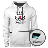 Contemporary Sofspun White Hoodie-Stacked WSSU Rams