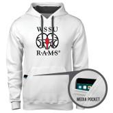 Contemporary Sofspun White Hoodie-Stacked WSSU Rams