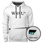Contemporary Sofspun White Hoodie-WSSU Flat