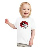 Toddler White T Shirt-Ram Head