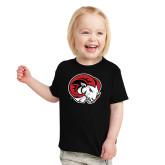 Toddler Black T Shirt-Ram Head