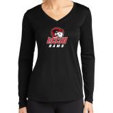 Ladies Syntrel Performance Black Longsleeve Shirt-WSSU Rams