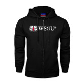 Black Fleece Full Zip Hoodie-Ram WSSU