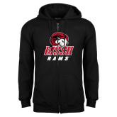 Black Fleece Full Zip Hoodie-WSSU Rams