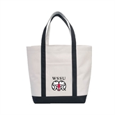 Contender White/Black Canvas Tote-WSSU Rams
