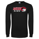 Black Long Sleeve T Shirt-WSSU Rams Horizontal