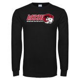 Black Long Sleeve T Shirt-WSSU Horizontal