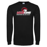 Black Long Sleeve T Shirt-WSSU Rams Mascot Mark