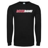 Black Long Sleeve T Shirt-WSSU Rams Wordmark