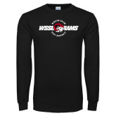 Black Long Sleeve T Shirt-Winston Salem Rams