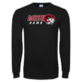 Black Long Sleeve T Shirt-WSSU Rams Distressed