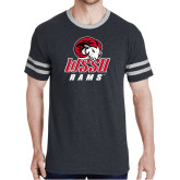 Black Heather/Grey Tri Blend Varsity Tee-WSSU Rams