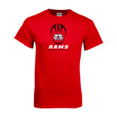 Red T Shirt-Football Vertical Stacked