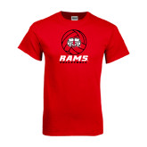 Red T Shirt-Rams Volleyball Stacked