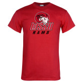 Red T Shirt-WSSU Distressed