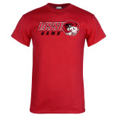 Red T Shirt-WSSU Rams Distressed
