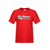 Youth Red T Shirt-Softball Script w/ Ball