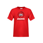 Youth Red T Shirt-Rams Volleyball Stacked