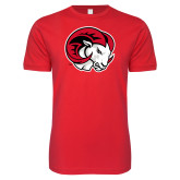 Next Level SoftStyle Red T Shirt-Ram Head