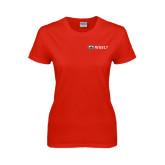 Ladies Red T Shirt-Ram WSSU