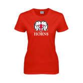 Ladies Red T Shirt-Horn$
