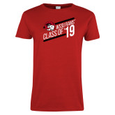 Ladies Red T Shirt-Class of 19