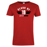 Ladies Red T Shirt-Class of Design