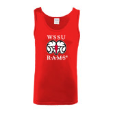 Red Tank Top-Stacked WSSU Rams