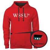 Contemporary Sofspun Red Hoodie-WSSU Flat