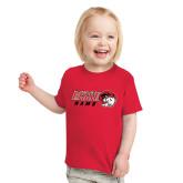 Toddler Red T Shirt-WSSU Rams Horizontal