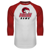 White/Red Raglan Baseball T Shirt-WSSU Rams