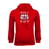 Red Fleece Hoodie-Stacked WSSU Rams