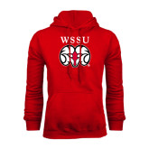Red Fleece Hoodie-WSSU Ram