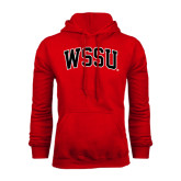 Red Fleece Hoodie-Arched WSSU
