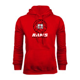 Red Fleece Hoodie-Rams Volleyball Stacked