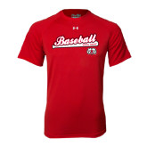 Under Armour Red Tech Tee-Baseball Script