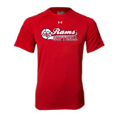 Under Armour Red Tech Tee-Softball Script w/ Ball