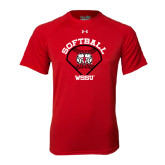 Under Armour Red Tech Tee-Softball Diamond and Seams