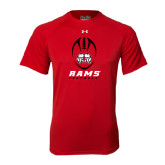 Under Armour Red Tech Tee-Football Vertical Stacked