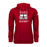 Adidas Climawarm Red Team Issue Hoodie-Stacked WSSU Rams