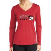 Ladies Syntrel Performance Red Longsleeve Shirt-WSSU Rams Horizontal